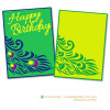 2016 Peacock Birthday Card Front
